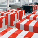 Shelters at an airport ready for shipment